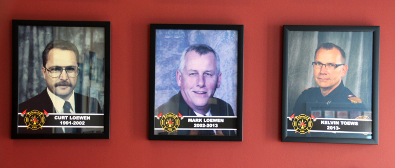 Pictures of last 3 fire chiefs in Steinbach