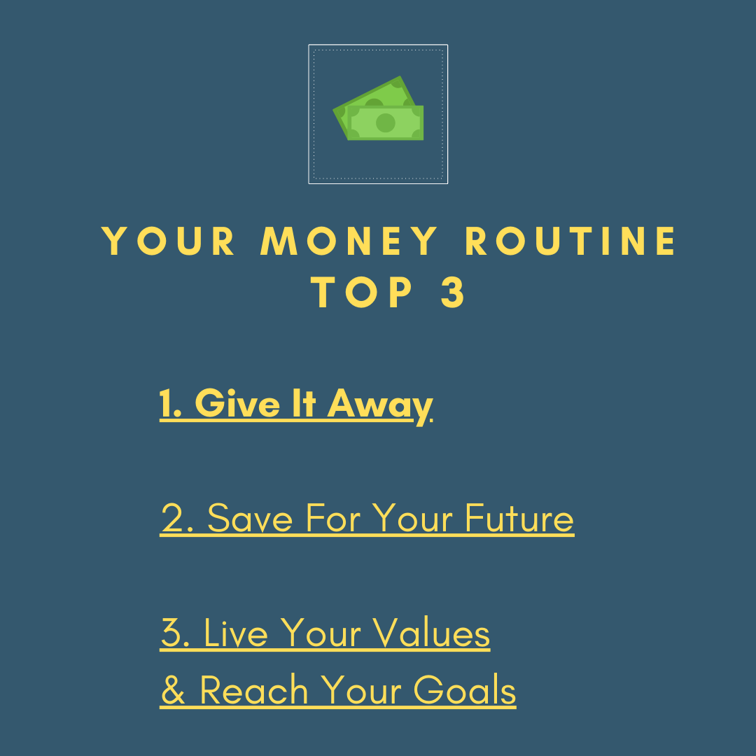 image of 3 things to do with money