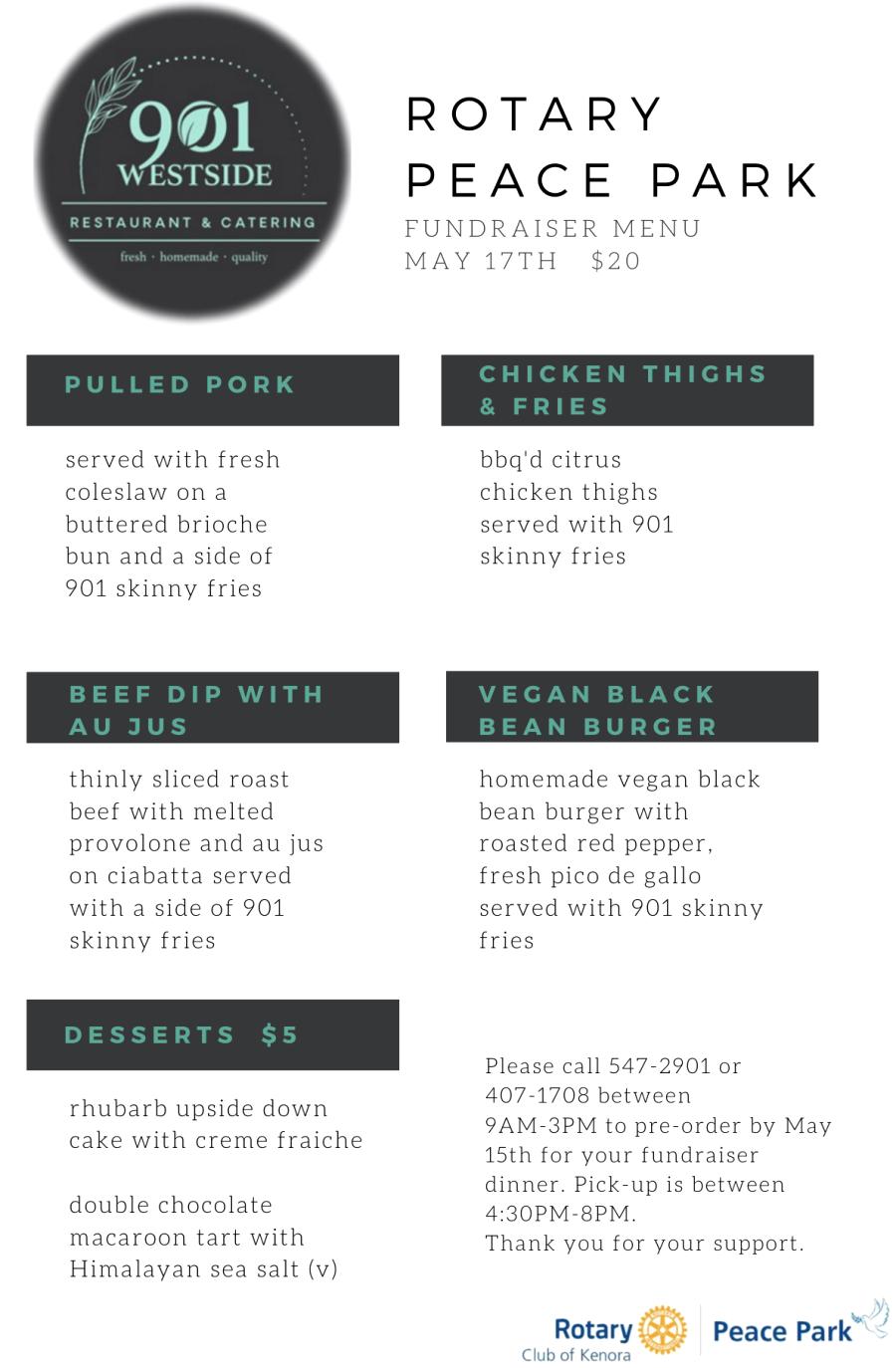 901 westside menu