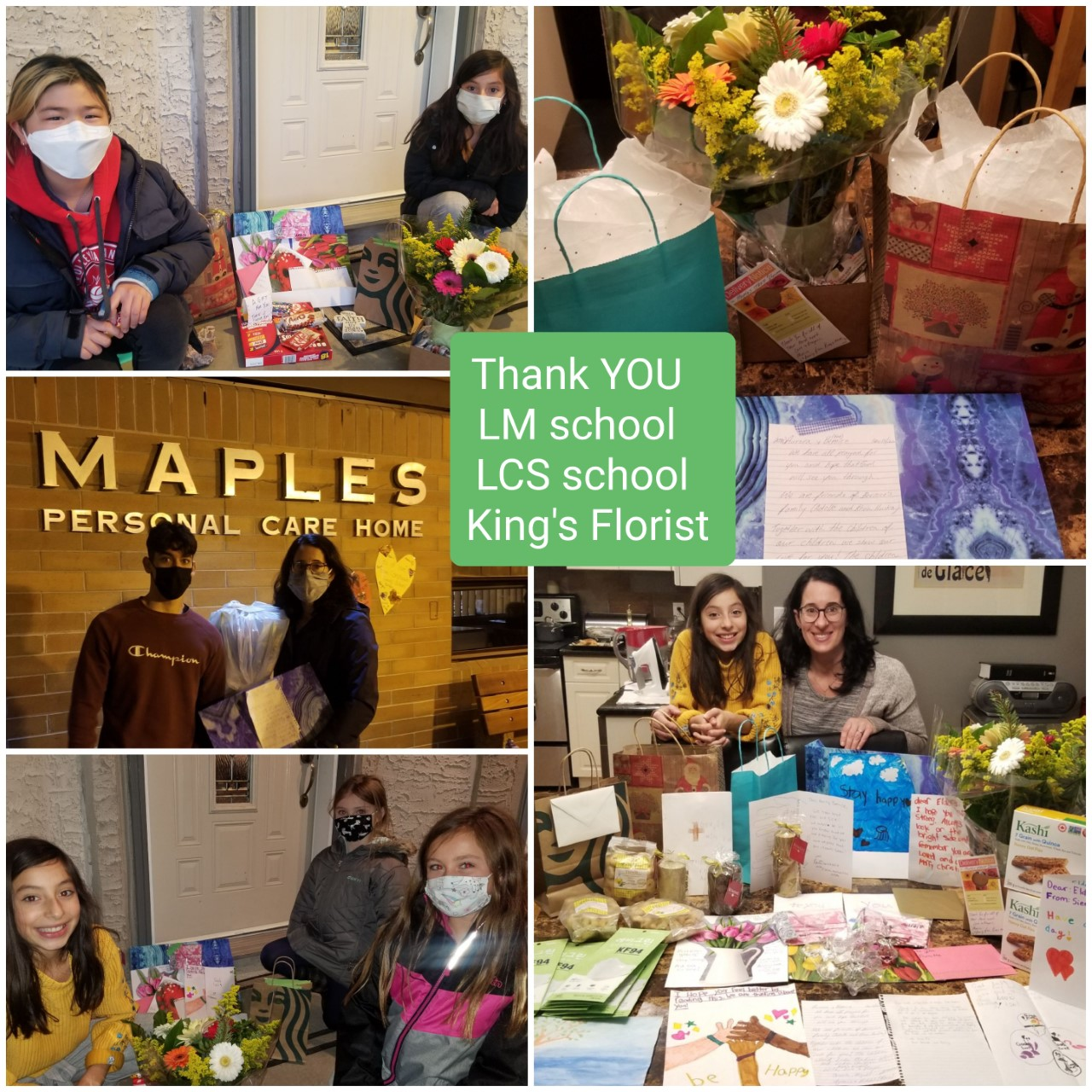 Sending gifts to the Maples PCH in Winnipeg.
