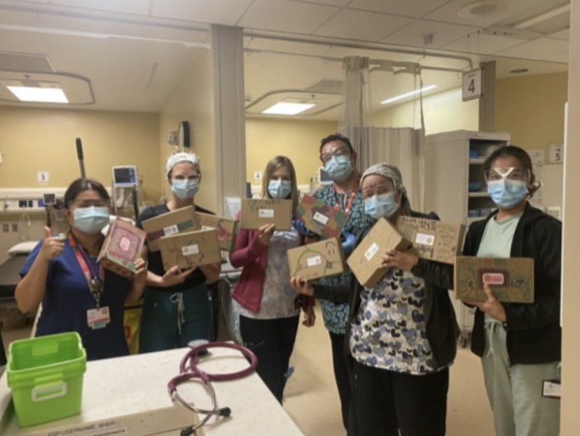 Some of the staff at Bethesda Hospital in Steinbach.