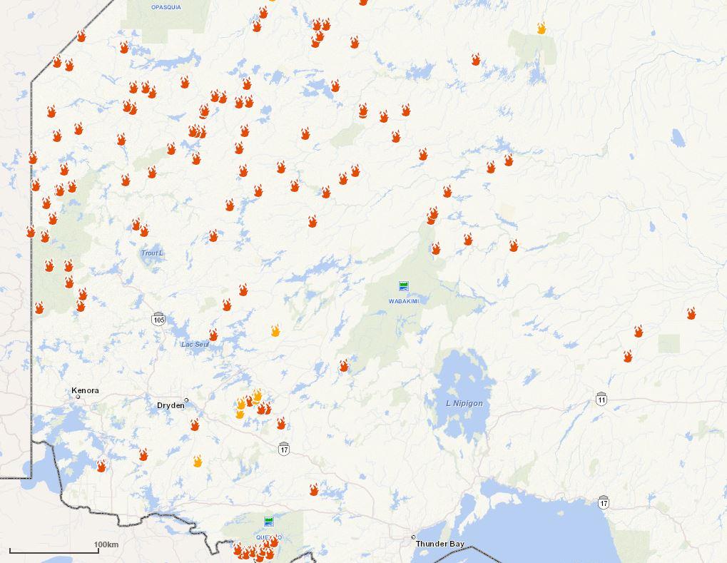 Kenora Fire Map