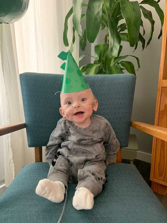 Levi Guenther celebrates first birthday. (Supplied)