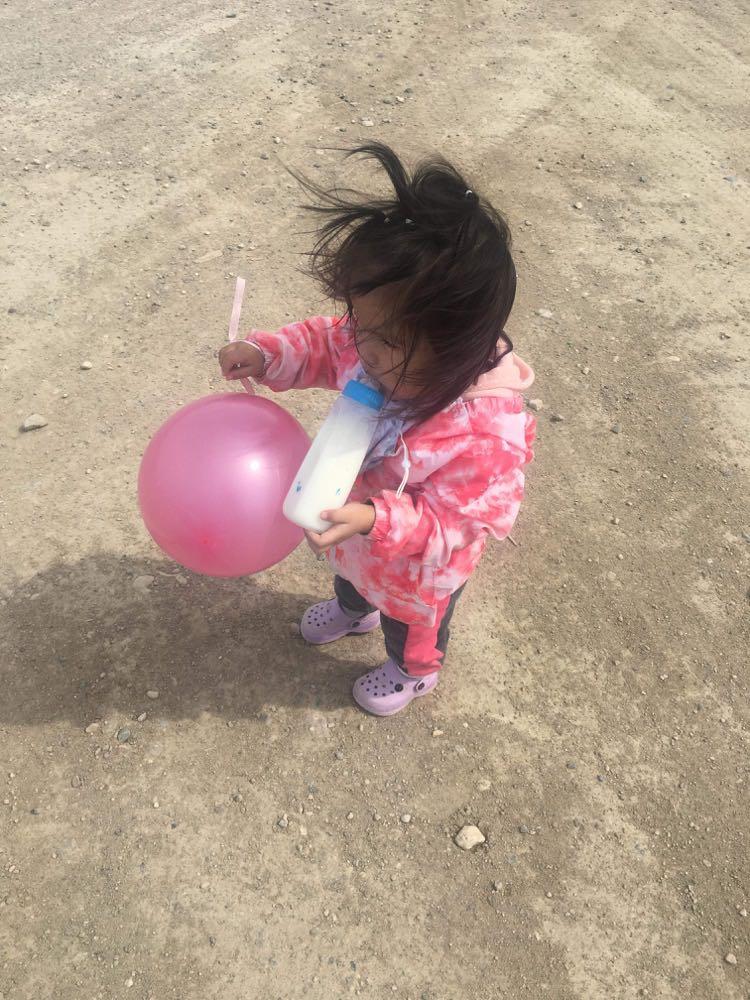 A little girl in Shamattawa.
