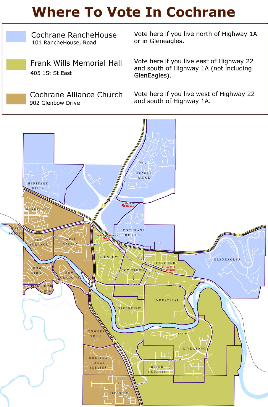Polling station map