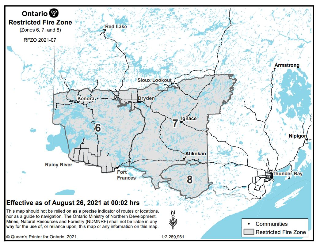Restricted Fire Zone Aug 26 Map