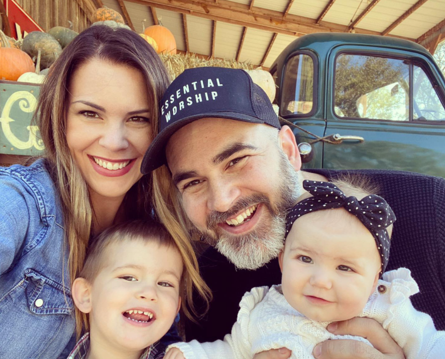 Tasha Layton with her husband, son and daughter.