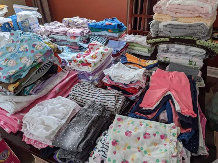 Just some of the items donated to help the Northern community of Shamattawa.