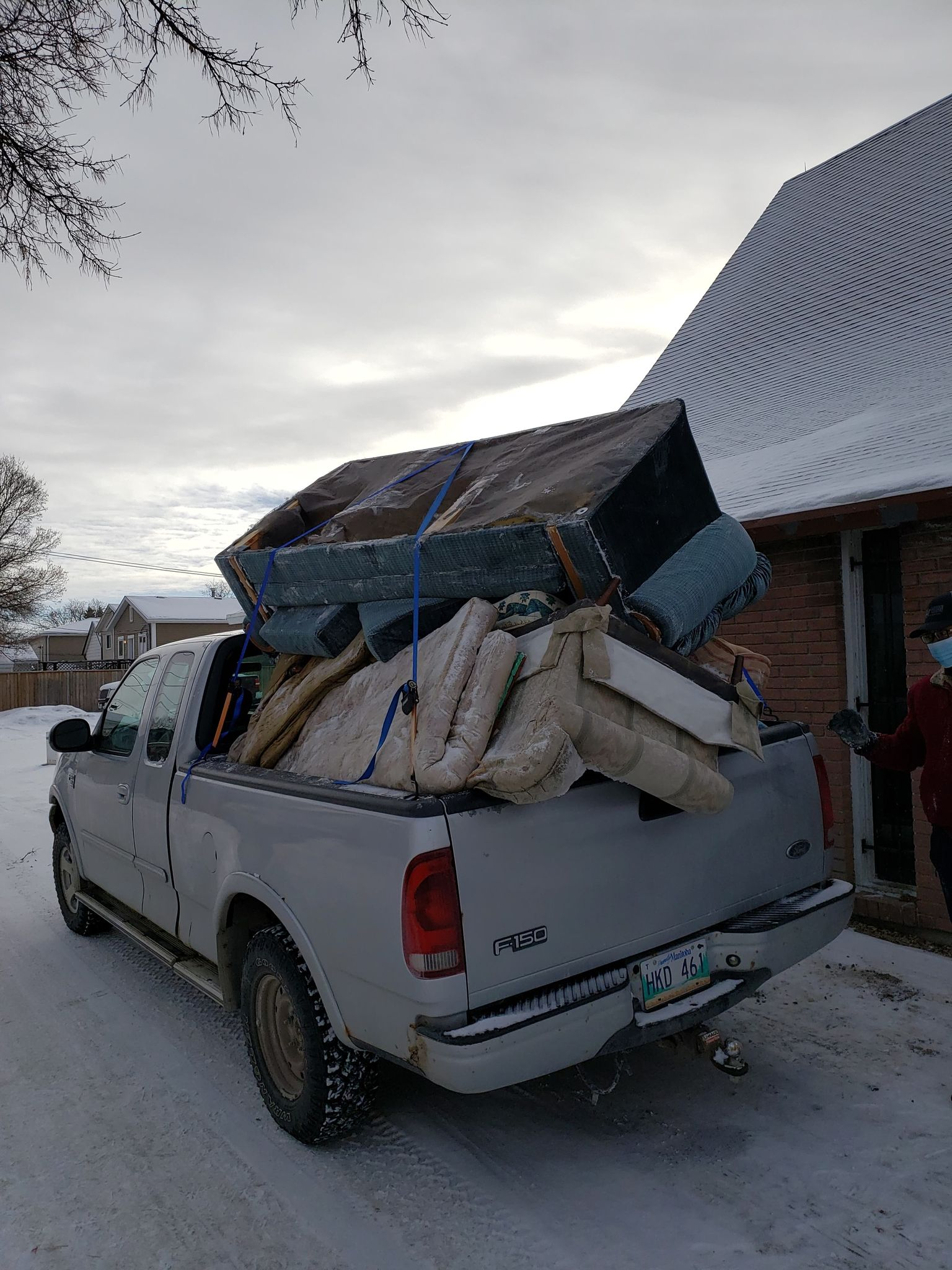 All the trash from one ditch in Winnipeg.