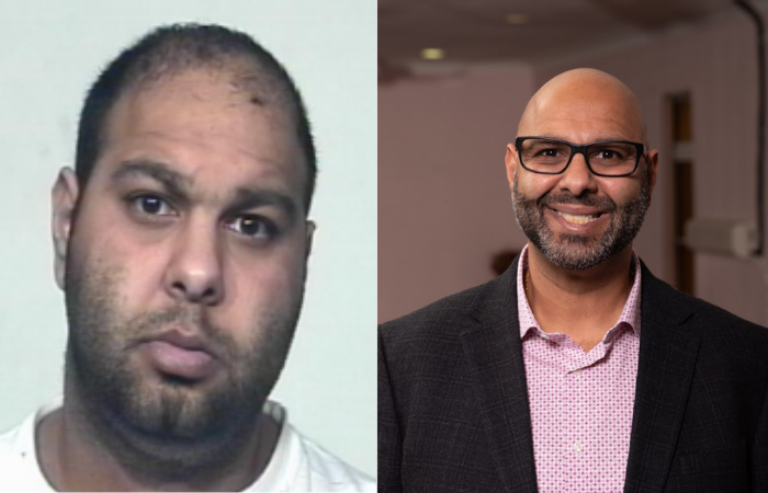 Robby Ahuja's mug shot and him now.