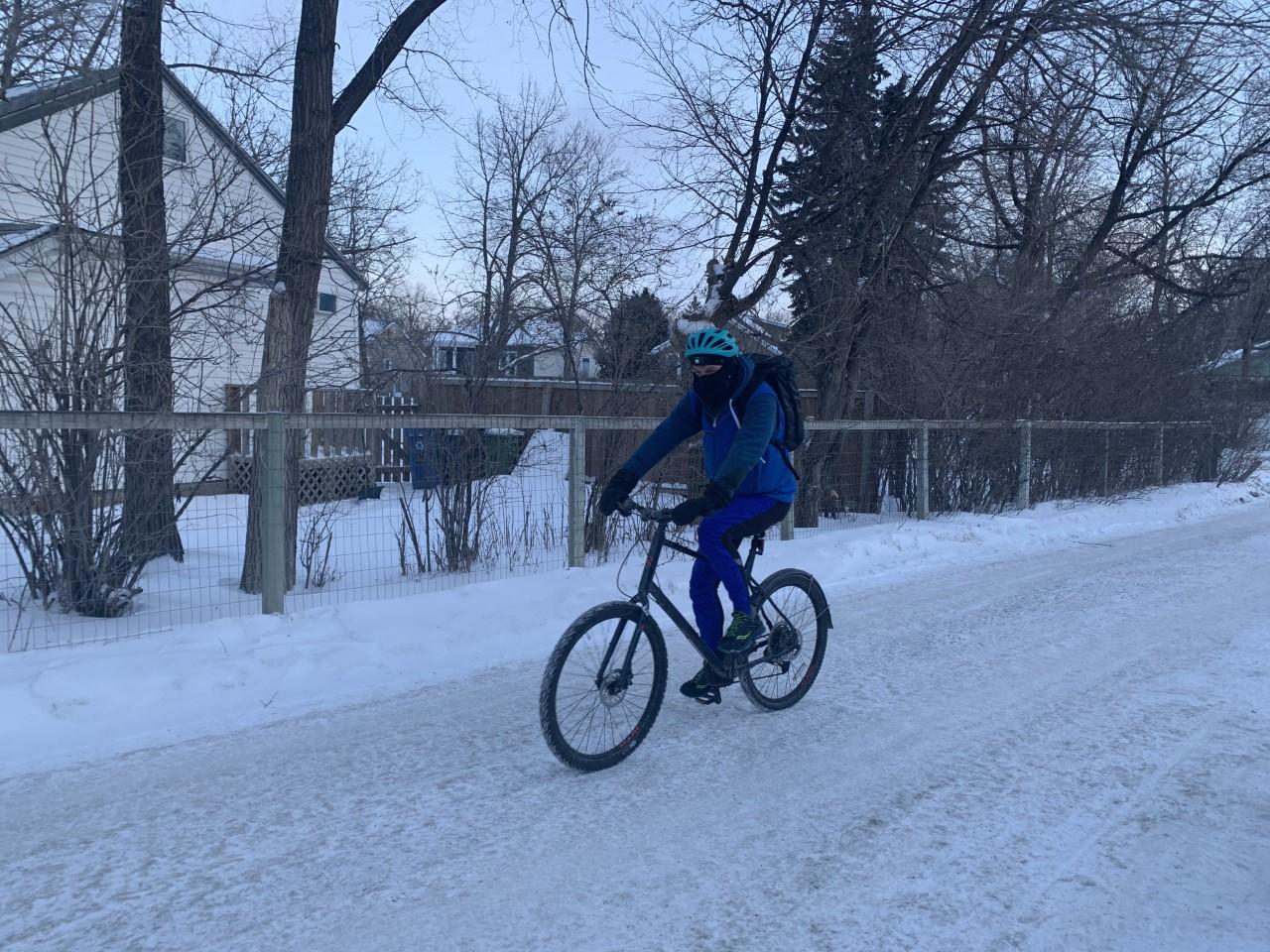 Winter cycling.