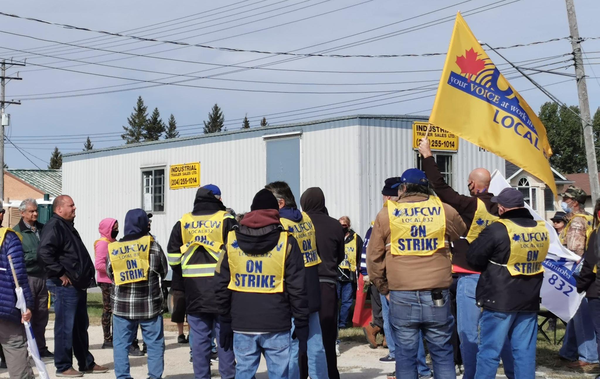 bus drivers on strike