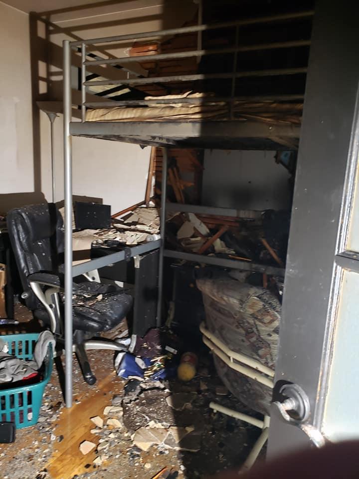 Fire damage. (Maria Hrabarchuk)