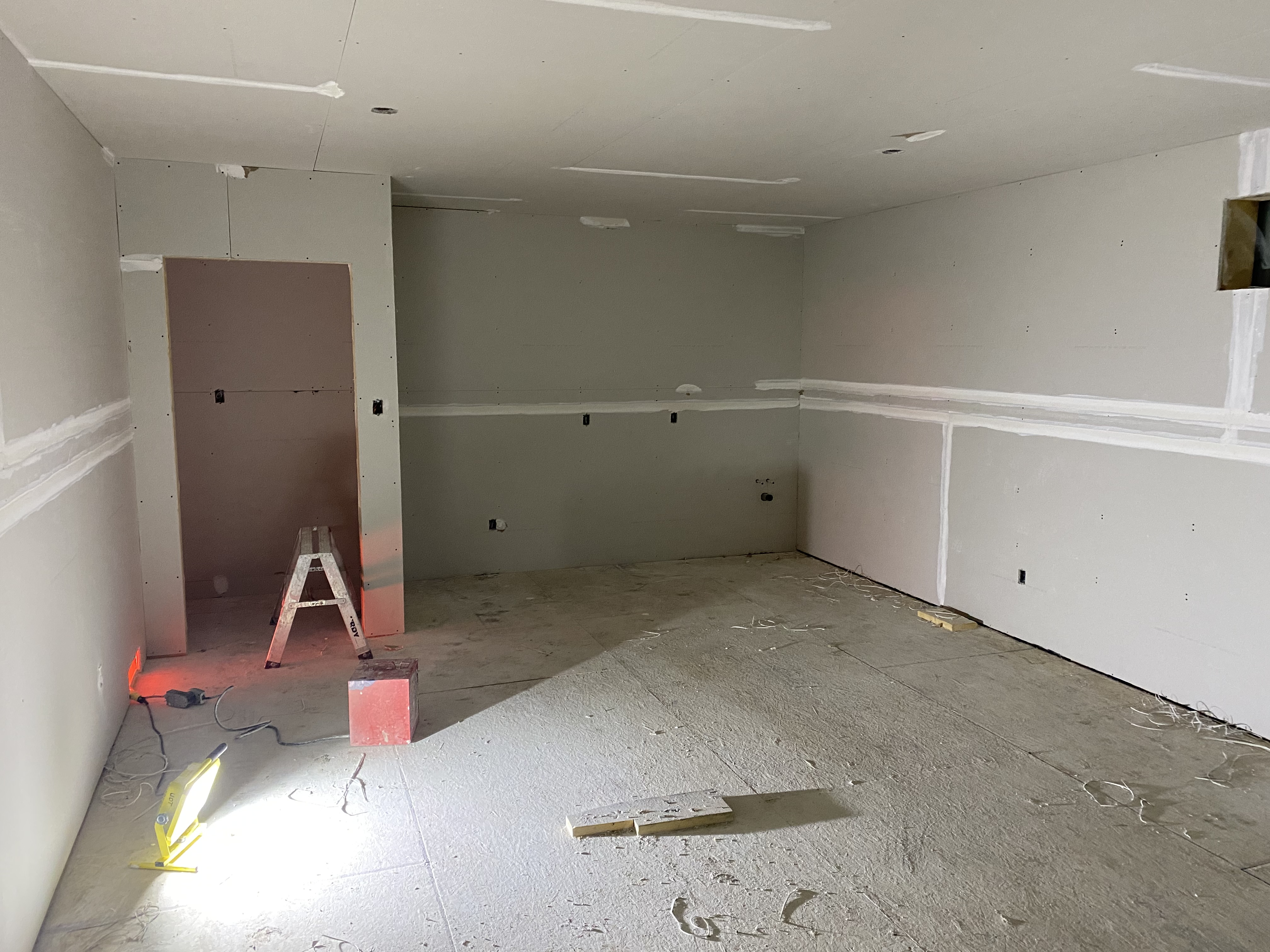 The new space for Give the Word in Steinbach coming together.