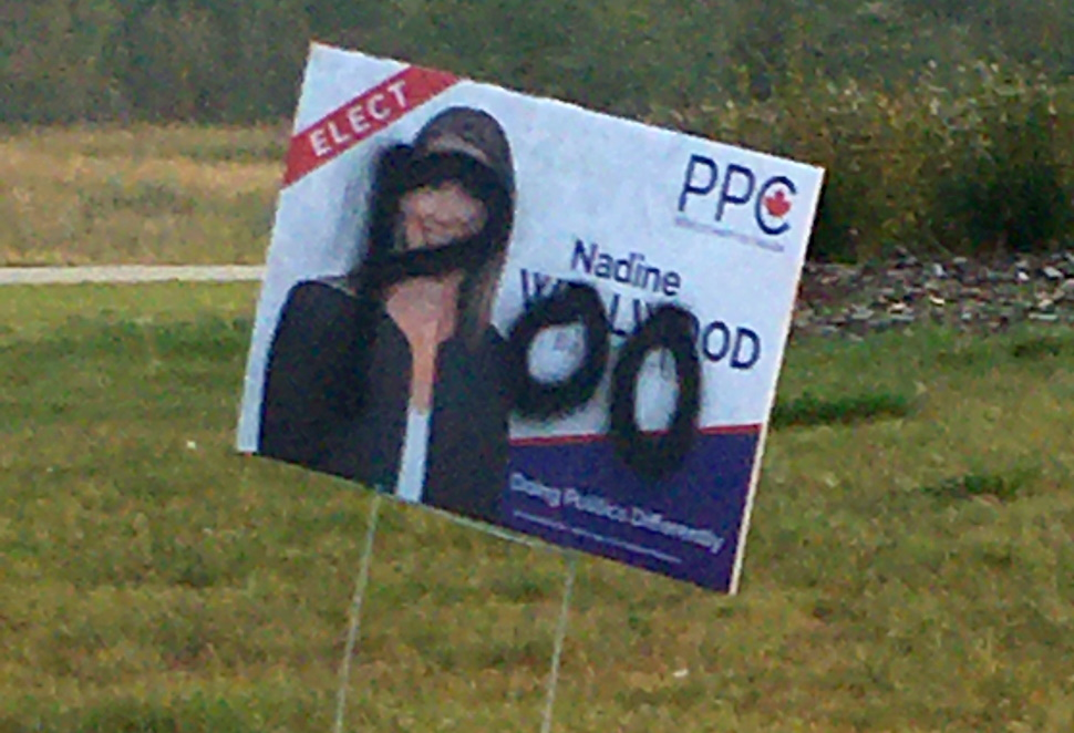 defaced wellwood sign