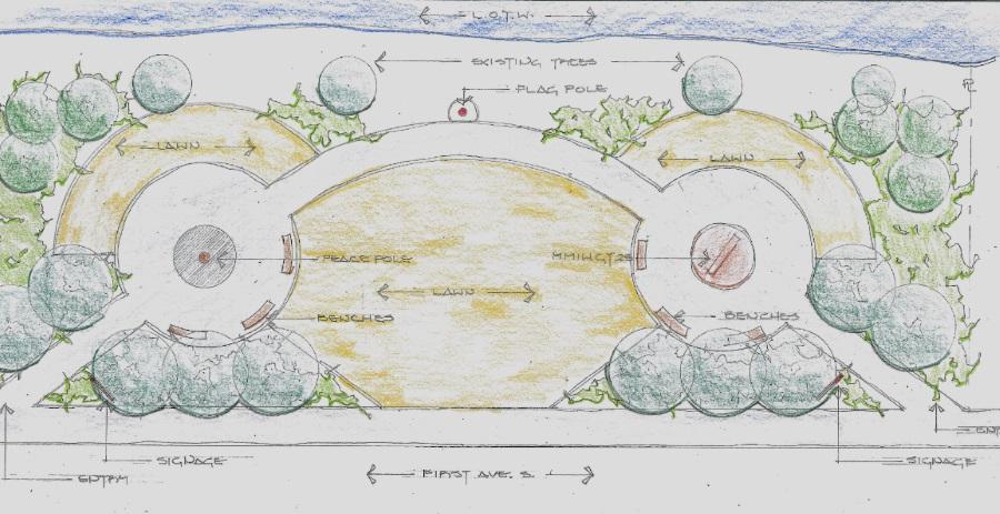 peace park artist rendering